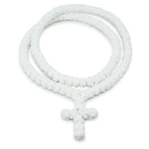 White Prayer Rope Necklace - No Dividers-0
