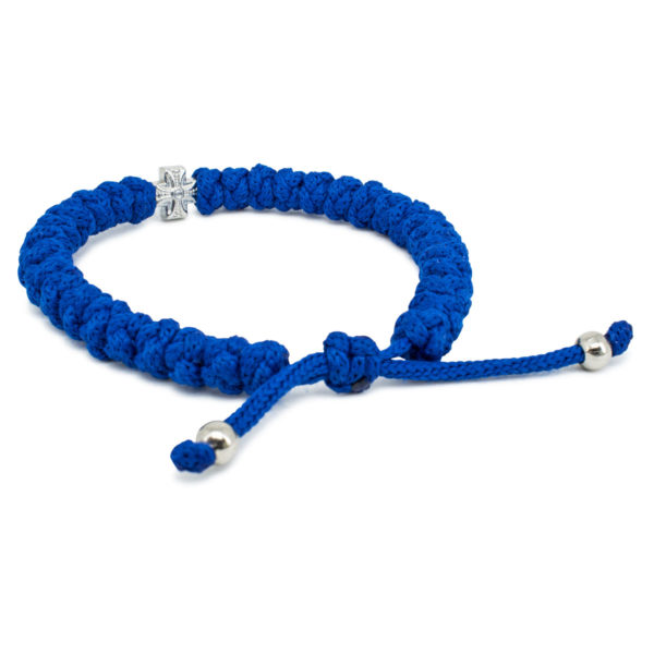 Adjustable Blue Prayer Rope Bracelet