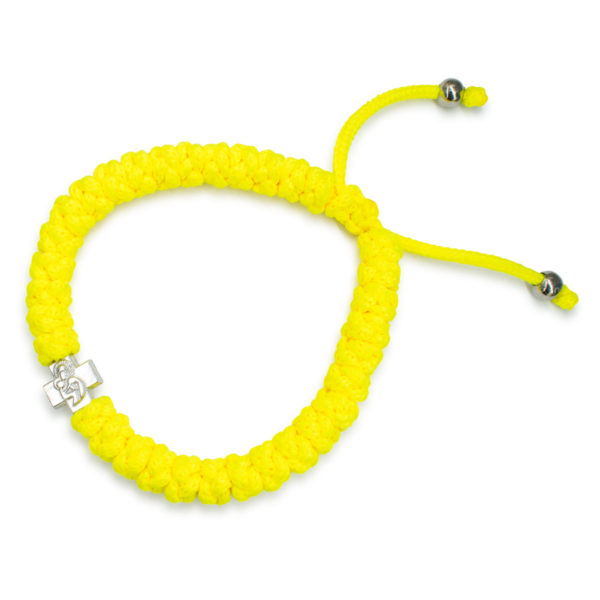 Adjustable Neon Yellow Prayer Bracelet