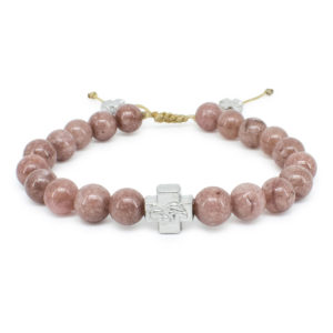 Brown Candy Jade Stone Orthodox Bracelet-0