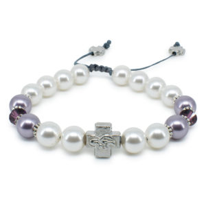 "Swarovski Pearl and Crystal Orthodox Bracelet ""Elena""-0"