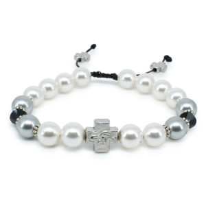 "Swarovski Pearl and Crystal Orthodox Bracelet ""Magdalena""-0"